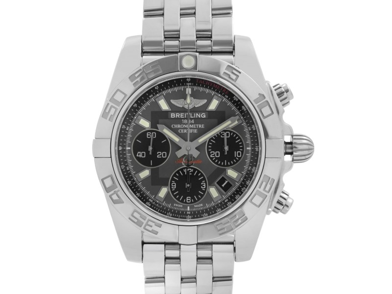 Breitling Chronomat 41mm Steel Gray Dial Automatic Mens Watch AB014012-F554-378A