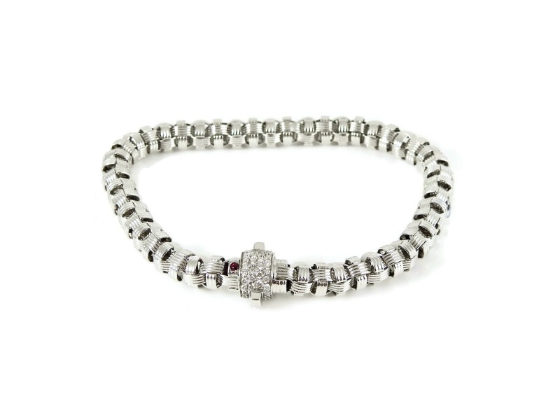 Roberto Coin Appassionata 18k White Gold Diamond Bracelet