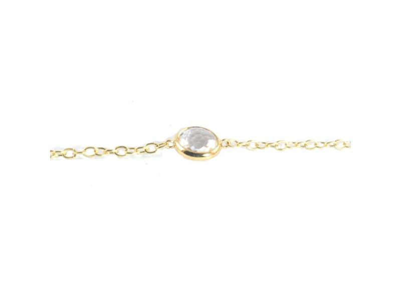 Ippolita Yellow Gold Kids 18K Clear Quartz Stone Small Child Lollipop Bracelet
