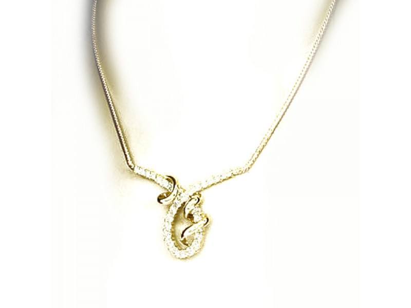 Jose Hess 14K Yellow Gold Diamond Necklace