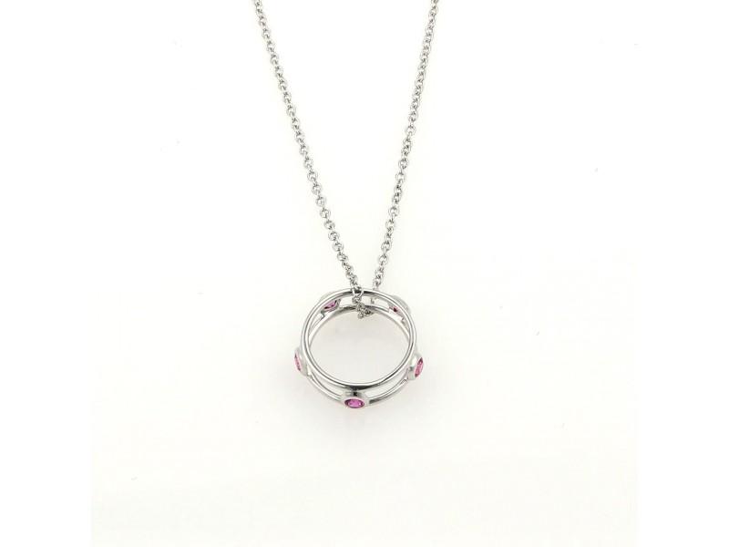 tiffany amp co peretti 18k white gold pink sapphire pendant