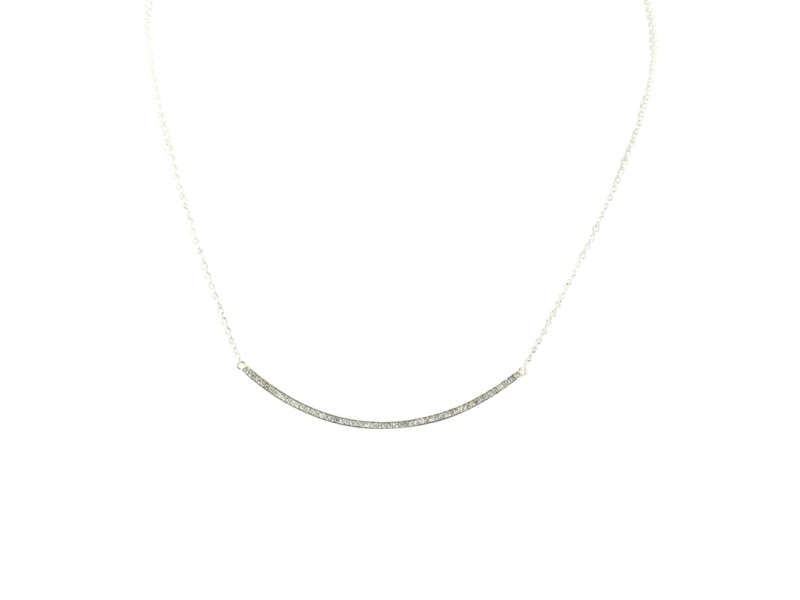 Ippolita 925 Sterling Silver and Diamond Stick Necklace