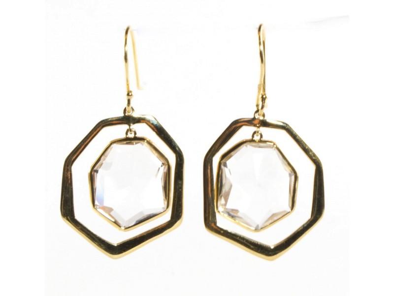 Ippolita 18K Yellow Gold & Clear Quartz Modern Rock Candy Drop Earrings