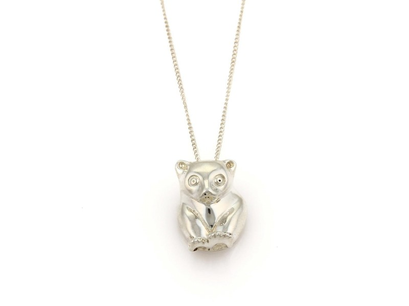 Tiffany co sterling silver bear pendant necklace tiffany co sterling silver bear pendant necklace aloadofball Images