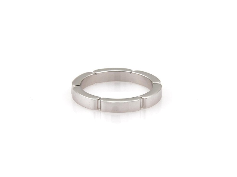 Cartier Ring 18k White Gold Size 4.25