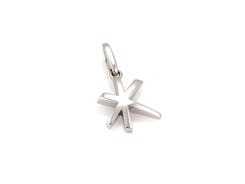 Cartier 18K White Gold Star Charm Pendant