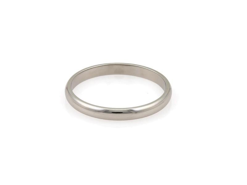 Cartier Platinum Wedding Ring Size 9