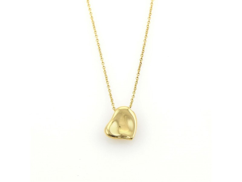 Tiffany & Co. Elsa Peretti 18K Yellow Gold Full Heart Necklace