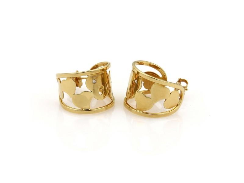 Roberto Coin Diamond 18K Yellow Gold Diamond Earrings