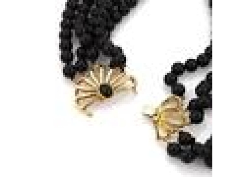 Tiffany & Co. Picasso 18K Yellow Gold Onyx Necklace