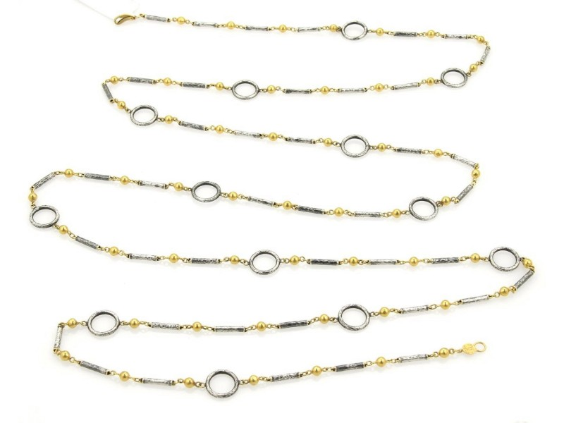 Gurhan 142950021690-E 24K Yellow Gold, Sterling Silver Necklace