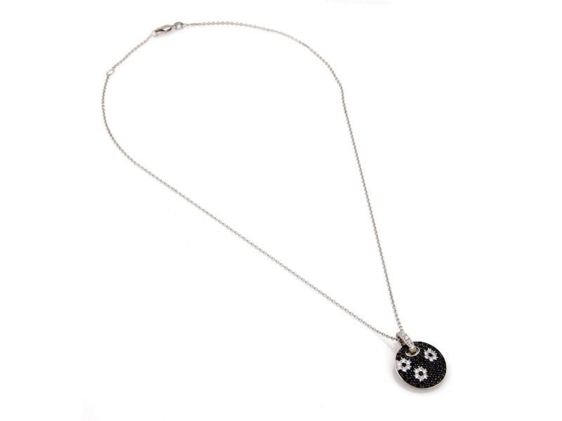 Roberto Coin 142951243919-E 18K White Gold Diamond, Sapphire Pendant
