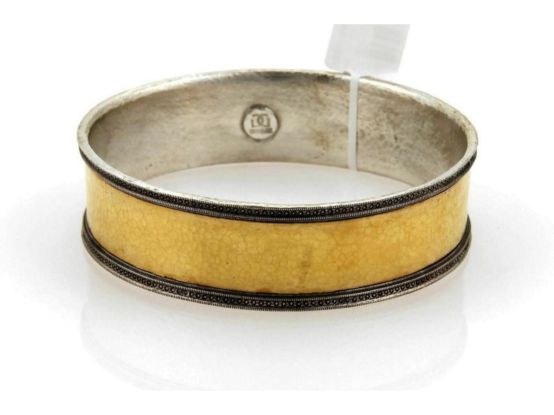 Gurhan Lancelot 24k Gold & Sterling 19mm Wide Bangle
