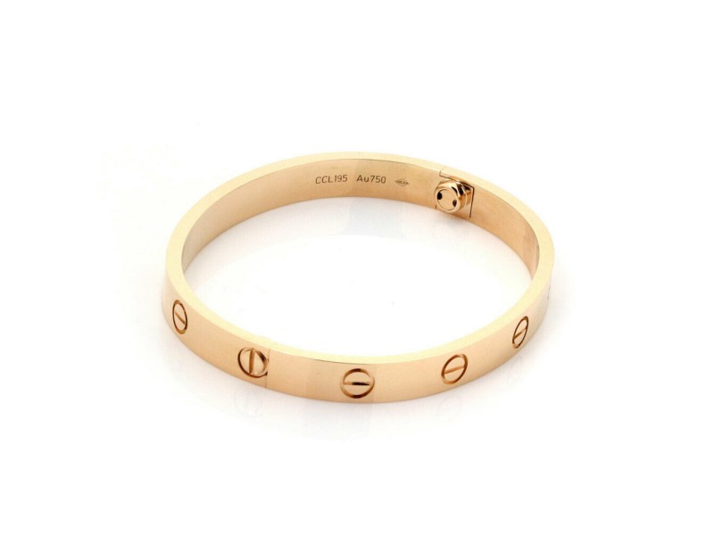 Cartier Love Bangle New Screw in 18k Rose Gold Size 16