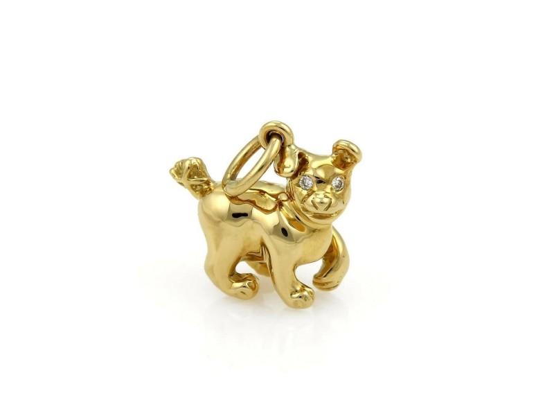 Tiffany & Co. Paloma Picasso Chinese Zodiac Diamond 18k Gold Dog Charm