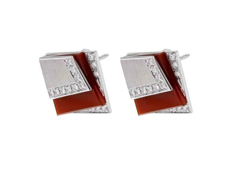 Salavetti 18K White Gold & 0.3 Cttw Diamonds Art Deco Women's Earrings