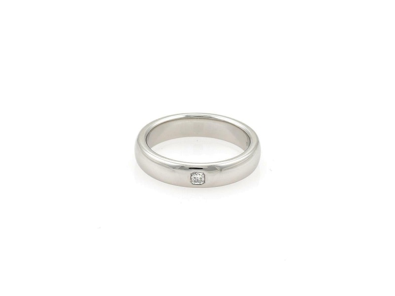 Tiffany & Co. LUCIDA Cushion Cut Diamond 4mm Platinum Wedding Band Ring