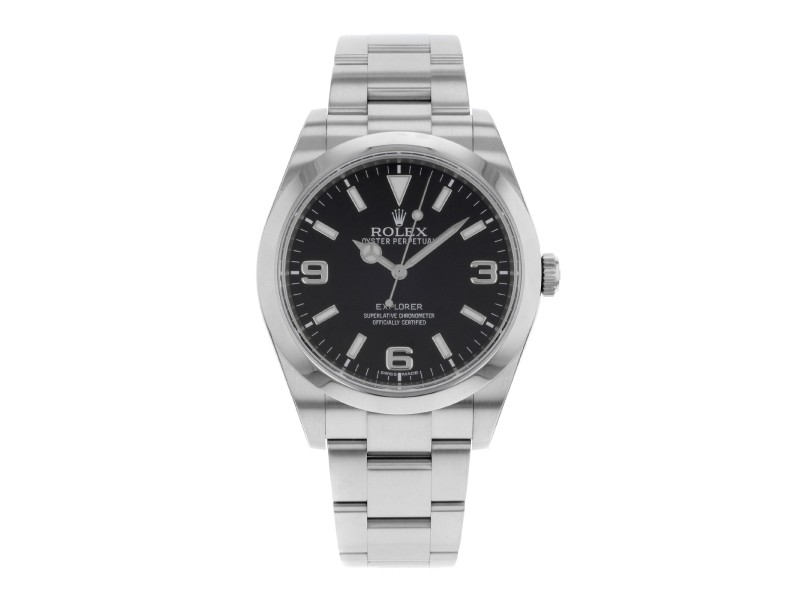Rolex  Explorer 214270 Black Dial Stainless Steel Automatic Mens Watch