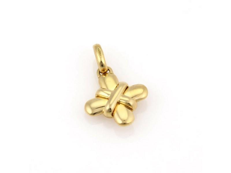 Bvlgari Bulgari 18K Yellow Gold X Cross Pendant