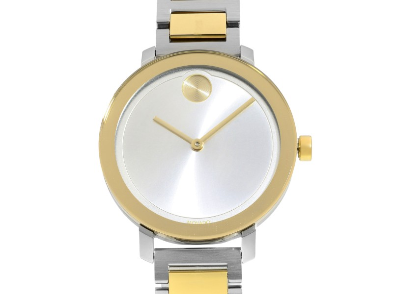 Movado Bold Evolution Gold-Tone Steel Silver Dial Quartz Ladies Watch 3600651