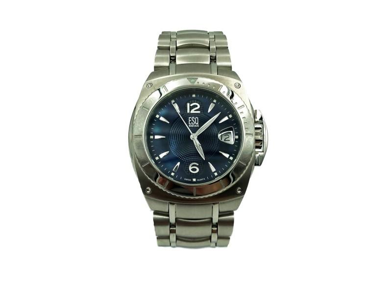 ESQ Movado Bracer Blue Dial Steel Quartz Mens Watch 07301045