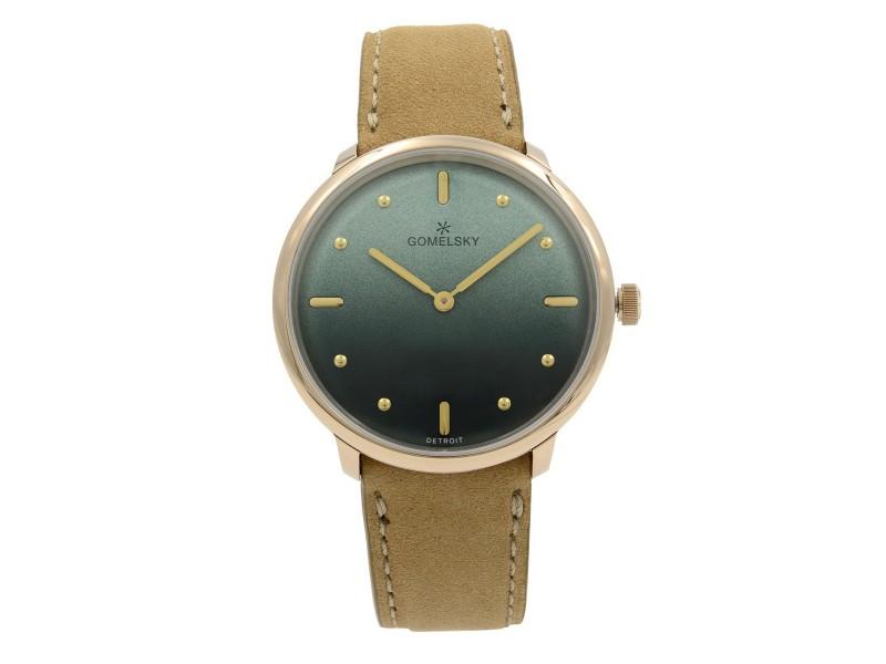 Gomelsky Audrey 6 Gold Tone Steel Green Dial Quartz Ladies Watch G0120147279