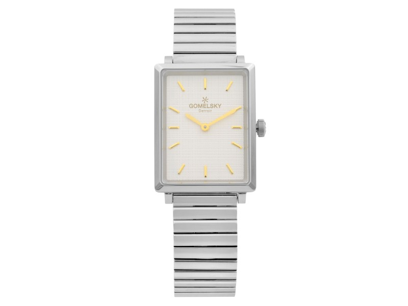Gomelsky Shirley Fromer Steel White Dial Quartz Ladies Watch G0120072638