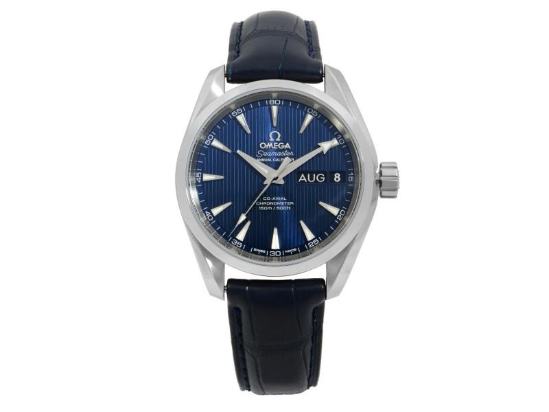 Omega Seamaster Aqua Terra Steel Blue Annual Calendar Watch 231.13.43.22.03.002