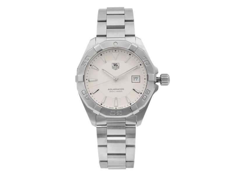 TAG Heuer Aquaracer Stainless Steel Silver Dial Quartz Mens Watch WAY1111.BA0928