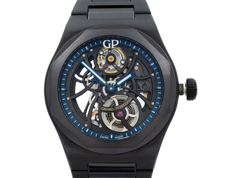Girard Perregaux Laureato Skeleton Black Ceramic Automatic Watch 81015-32-176032