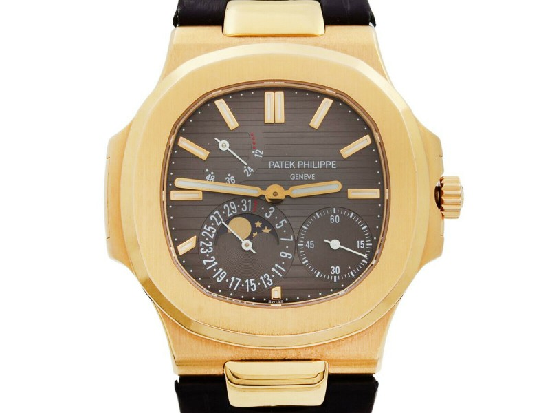 Patek Philippe Nautilus 18k Rose Gold Moon Phase Automatic Watch 5712R-001