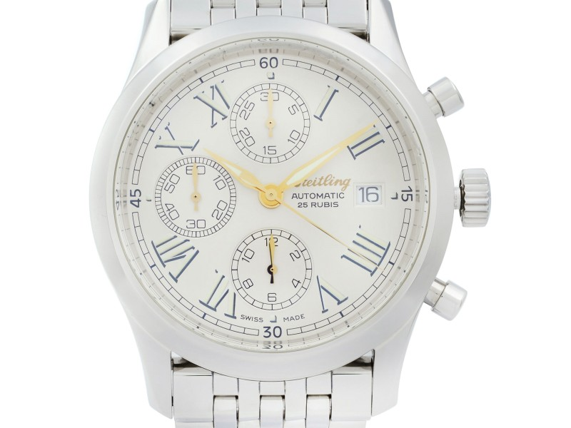 Breitling Navitimer Grand Premier Steel Silver Dial Automatic Men Watch A13024.1