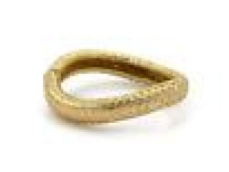 Angela Cummings Diamond 18k Yellow Gold Scale Design Wave Bangle Bracelet