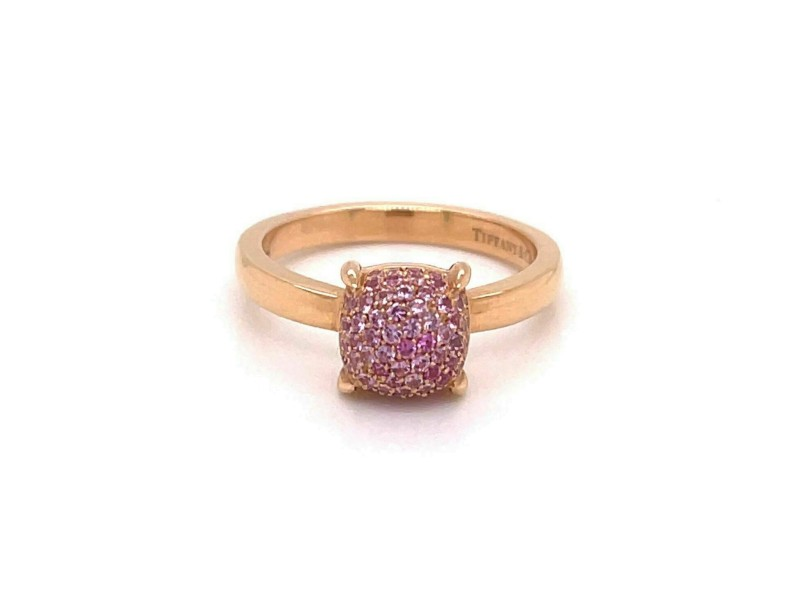 Tiffany & Co. Picasso Sugar Stacks Pink Sapphires 18k Rose Gold Ring