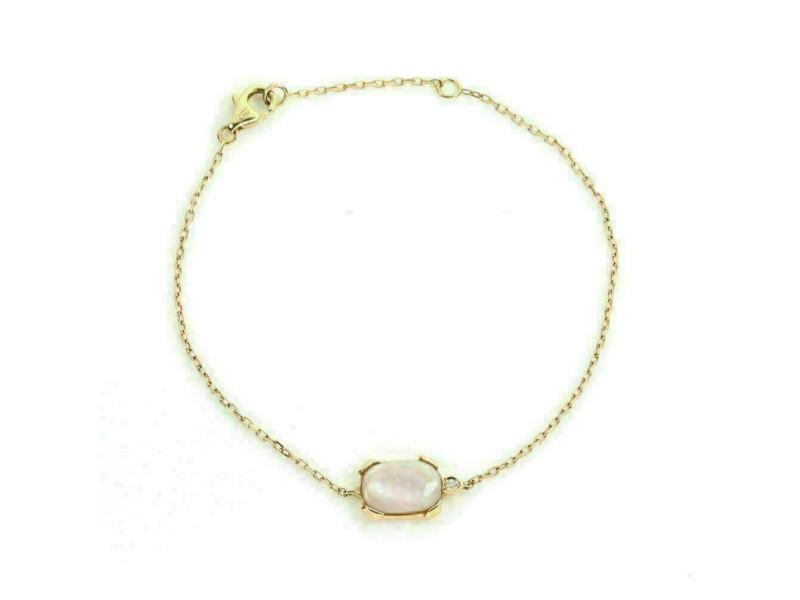 Cartier Tortue Diamond Pink Mother of Pearl 18k Rose Gold Bracelet