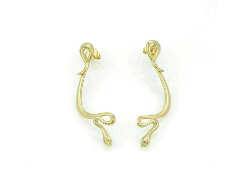 Tiffany & Co. Peretti 18k Yellow Gold Snake Dangle Earrings