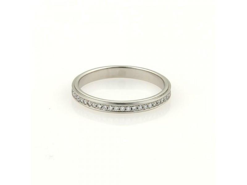 Cartier 18k Platinum Full Circle Diamonds Eternity Band Ring EU 46-US 3.75