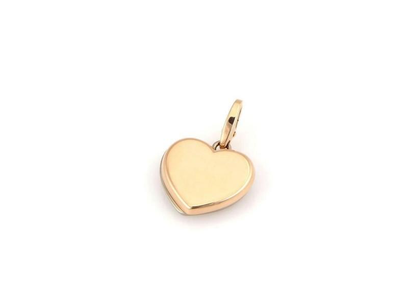 Cartier 18K 2 Tone Gold Double Heart Designer Pendant / Charm