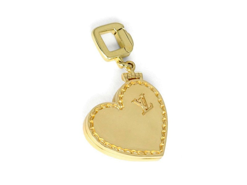Louis Vuitton 18k Yellow Gold Heart Locket Pendant