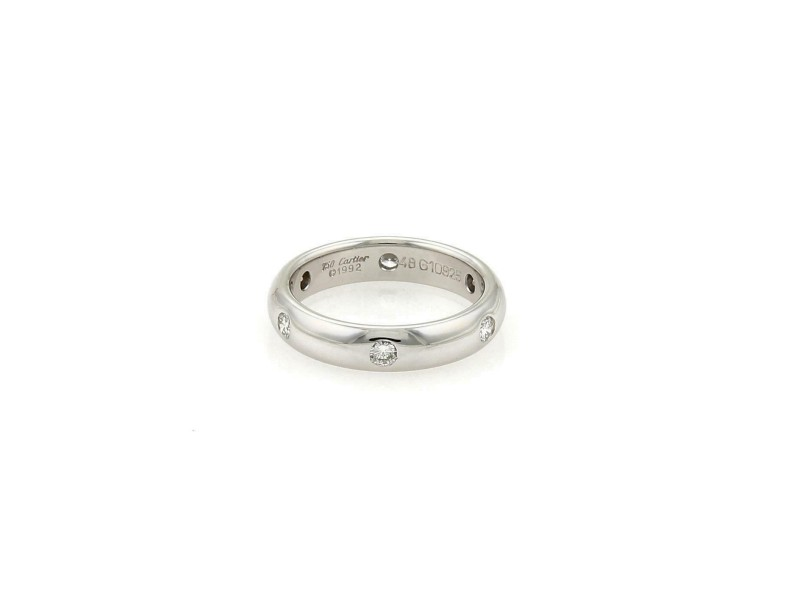 Cartier STELLA 18k White Gold 3.5mm Band Ring Size 48-US 4.5 w/Cert​