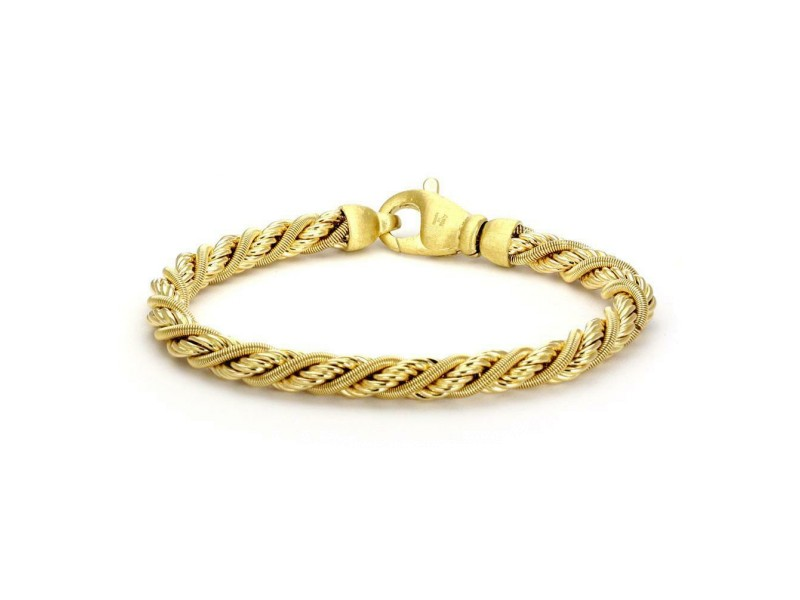 Marco Bicego 18k Yellow Gold Twisted Snake Rope Design Bracelet