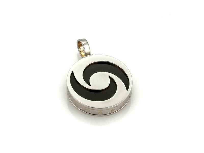 Bvlgari Bulgari Optical Spinning Onyx 18k White Gold & Steel Pendant
