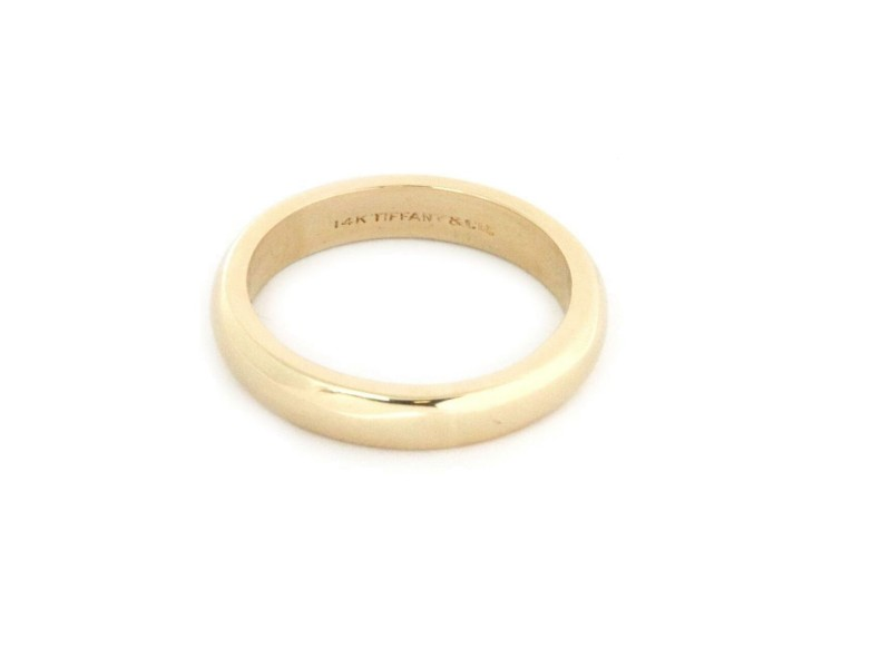 Tiffany & Co. Men's 14k Yellow Gold 4mm Dome Wedding Band Ring Size- 8.75