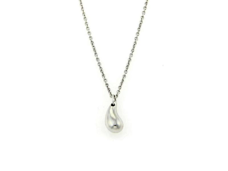 Tiffany & Co. Elsa Peretti Small Platinum Tear Drop Pendant
