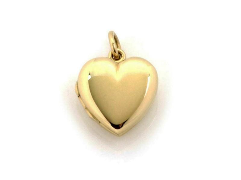 Vintage Tiffany & Co. 14k Yellow Gold Heart Locket Pendant