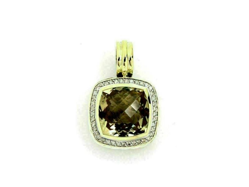 David Yurman Albion Diamond & Citrine Sterling Silver 18k Yellow Gold Pendant
