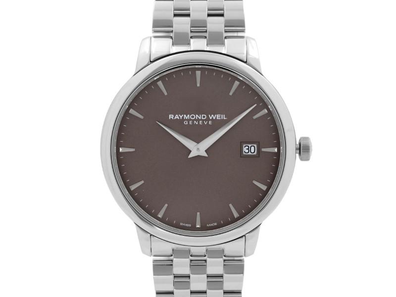 Raymond Weil Toccata 39mm Steel Brown Dial Quartz Mens Dress Watch 5488-ST-70001