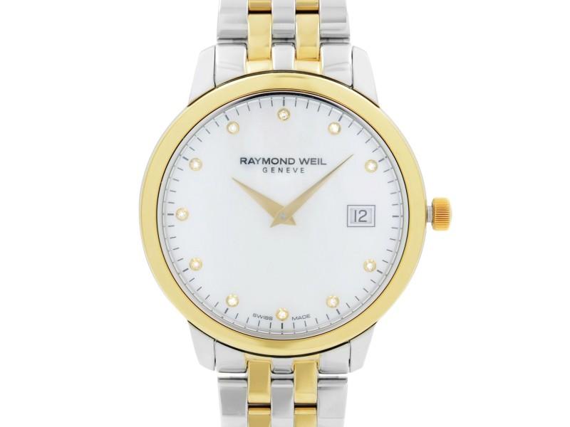 Raymond Weil Toccata Two-Tone Steel Diamond MOP Dial Ladies Watch 5388-STP-97081