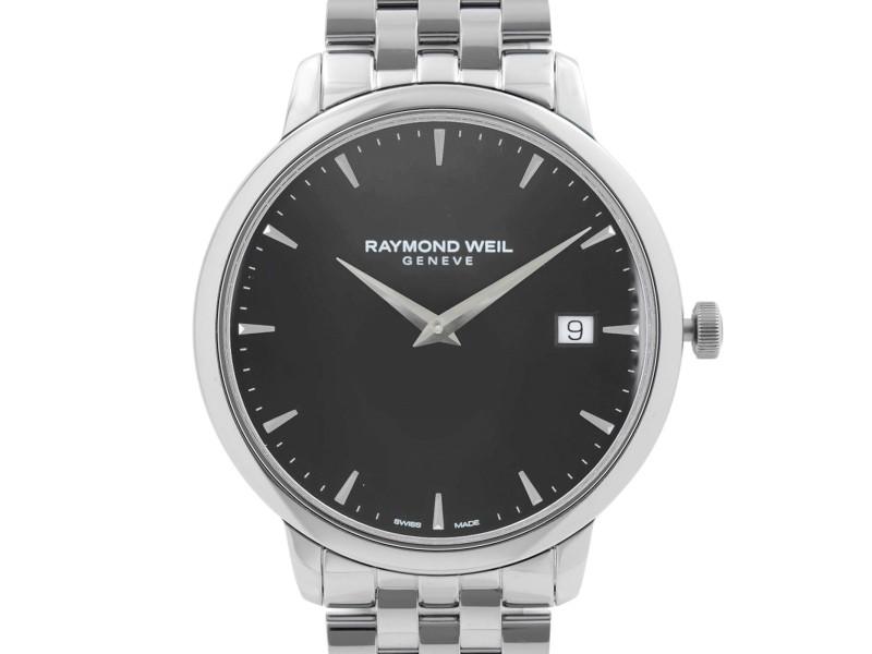 Raymond Weil Toccata Stainless Steel Black Dial Quartz Mens Watch 5588-ST-20001