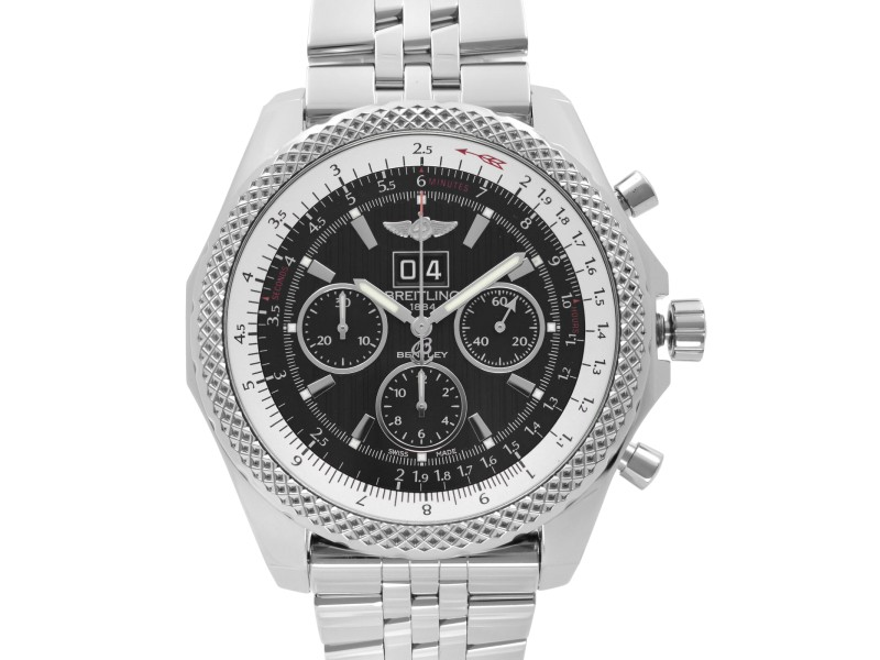 Breitling Bentley 49mm Steel Black Dial Automatic Mens Watch A4436412/BE17-990A